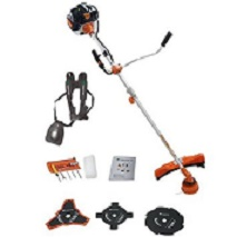 Timberpro with heavy duty strimmer line and blades
