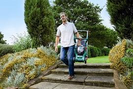 lightweight bosch lawnmower rotak 43