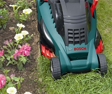 Bosch electric lawn mowers